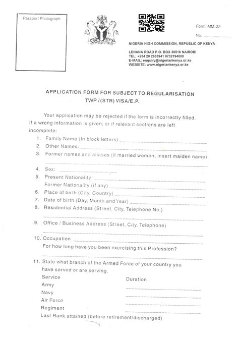 kenyan passport renewal form consular immigration