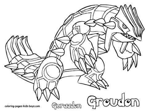 Dark Kyurem Free Colouring Pages