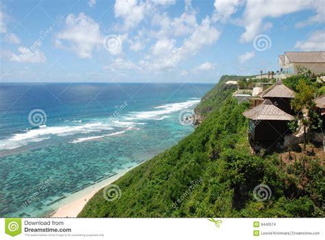 beatiful beach hotel view indian ocean bali stock images