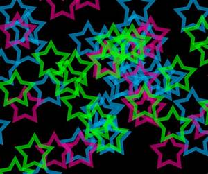 neon hearts and stars