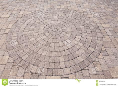 circular paving patterns ornamental pattern in patio paving stock photo image 40564092