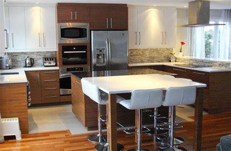 armoire cuisine cuisine en mdf laqué et placage de noyer comptoir de