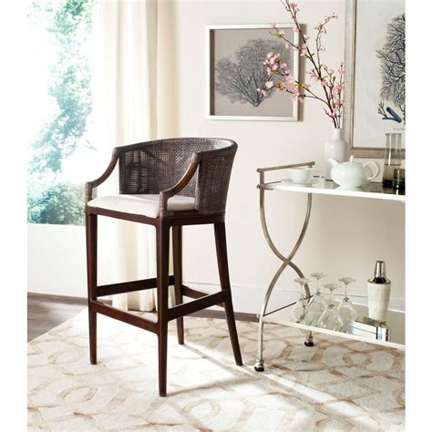 safavieh stool safavieh brando 28 in brown cushioned bar stool sea4014b