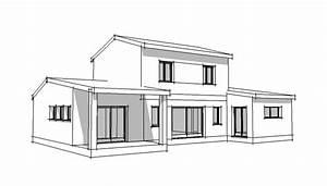 dessin de maison d architecte With dessin de maison moderne