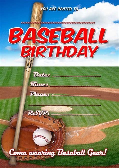 baseball party invitations  printable baseball