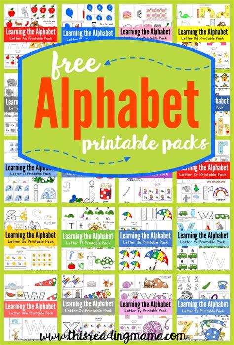 alphabet printable packs homeschool giveaways