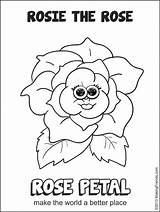 Daisy Petal Rose Rosie Gs Scout sketch template