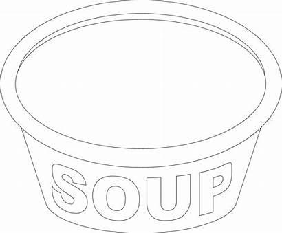Soup Coloring Pot Bowl Pages Template Printable