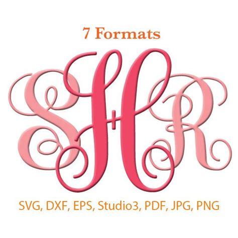 vine interlocking monogram font svg studio  dfx eps  monogram fonts cricut