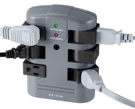 surge wall protector outlet mount power belkin protectors mounted pivot distribution