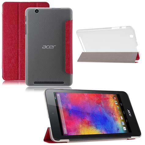 acer tablet cover tri fold slim leather case cover skin for acer iconia one