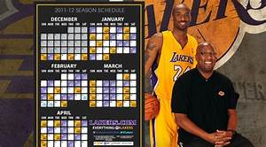 2011-12 Schedule Breakdown | THE OFFICIAL SITE OF THE LOS ...