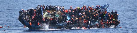 Refugee Boat Italy by Refugee Boat Carrying Hundred Capsizes Off Libya Coast