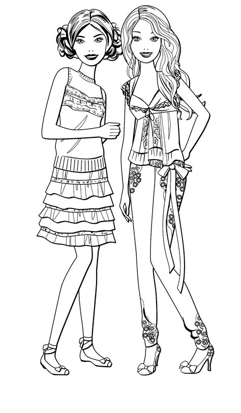Pin by Rylie Somerville on Diy Barbie coloring Barbie
