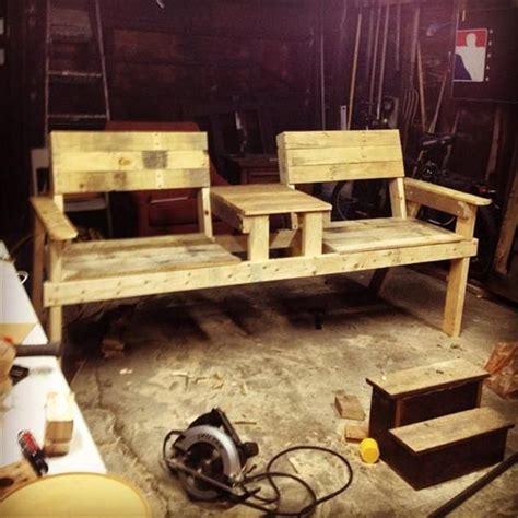 diy  seater pallet chair bench  inspiring