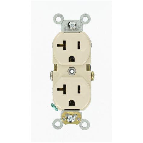 leviton  amp commercial grade duplex outlet light