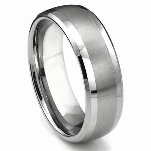tungsten carbide dome matte center wedding band ring With tungsten carbide wedding ring