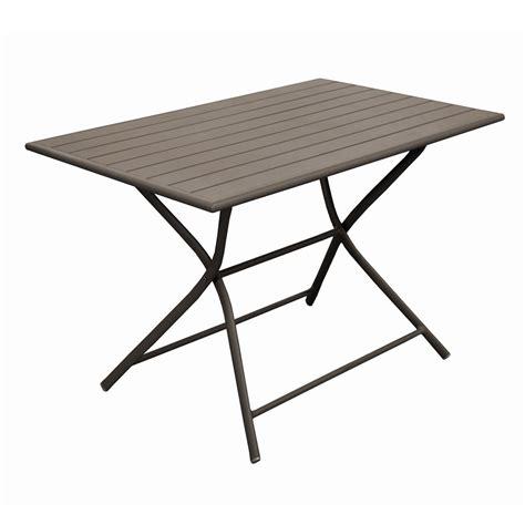 table de jardin pliante rectangulaire logia