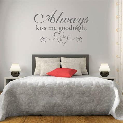kiss  goodnight bedroom wall sticker  mirrorin