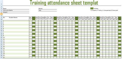 monthly employee attendance sheet excel format employee