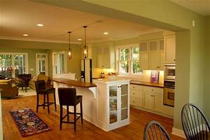 Open kitchen design ideas with living and dining room for Open floor plan kitchen design ideas
