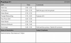 7 best images of printable basketball practice sheets With basketball practice planner template