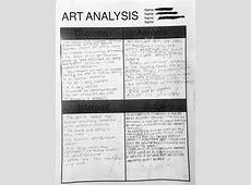 Art Analysis MS GRAY
