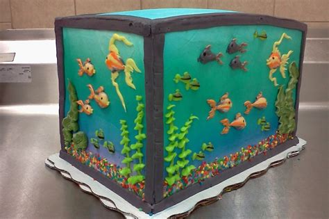 piped buttercream fish tank cakecentralcom