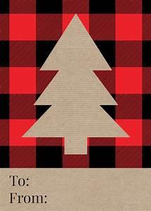 Rustic, Plaid, Christmas, Tags, Free, Printable