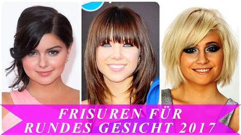 frisuren fuer rundes gesicht  youtube