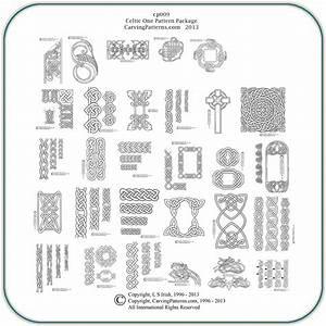 Celtic, Knots, One, U2013, Classic, Carving, Patterns