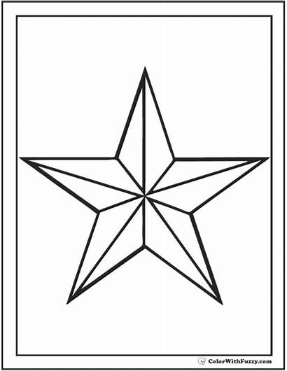 Coloring Star Nautical Pages Printable Outline Pdf