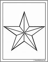 Coloring Star Nautical Pages Printable Outline Print Pdf Colorwithfuzzy sketch template