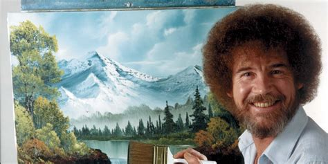 Here Is Bob Ross Beating Paint Brushes For Over Three
