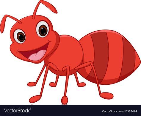 Happy ant cartoon Royalty Free Vector Image - VectorStock