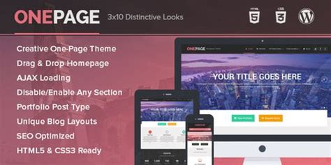 Onepage Theme Review