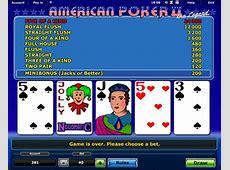 Американский покер играть бесплатно автоматы