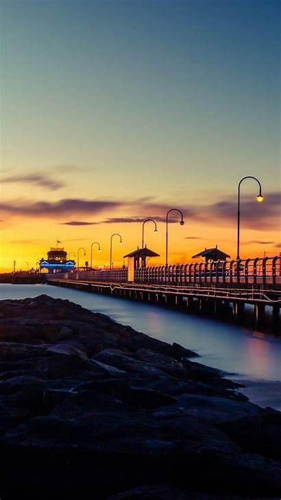 Sunset Dock Wooden Pier 4k 5k Wallpapers