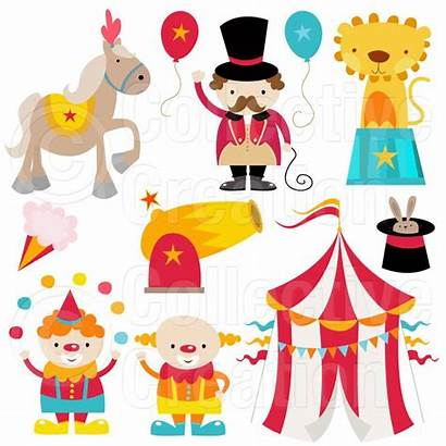 Circus Clip Clipart Carnival Digital Party Birthday