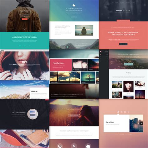 html  responsive html  css site templates