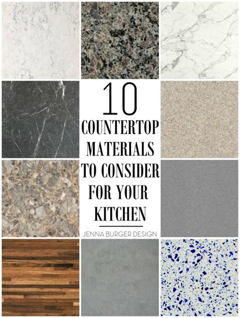 Materials For Kitchen Countertops by 10 Countertop Materials To Consider For The Kitchen