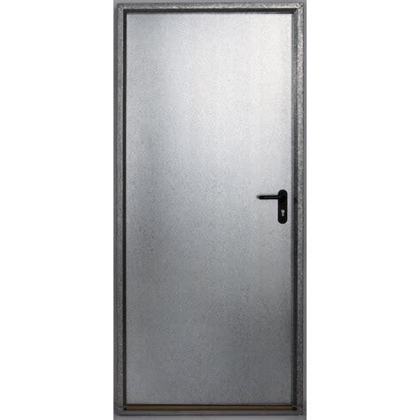 cadre de porte metallique porte de service acier galvanis 233 e s 233 curit 233 poussant gauche h 197 x l 85 cm leroy merlin