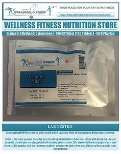 Dianabol  Methandrostenolone  10mg Tablet  100 Tablets  Wfn Pharma By Wellness Fitness