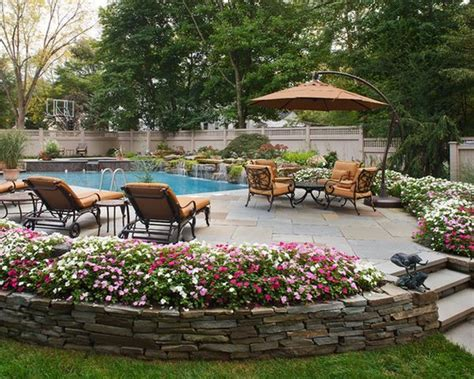 Decks For Round Above Ground Pools by Best 25 Stone Around Pool Ideas On Pinterest Backyard