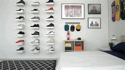 Sneakerhead Bedroom Hypebeast Shoe Ikea Storage Wall