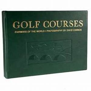 Golf coffee table book leather bound golf courses coffee for Golf coffee table