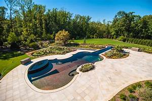 Custom swimming pool by cipriano landscape design beyond for Swimming pool and landscape designs