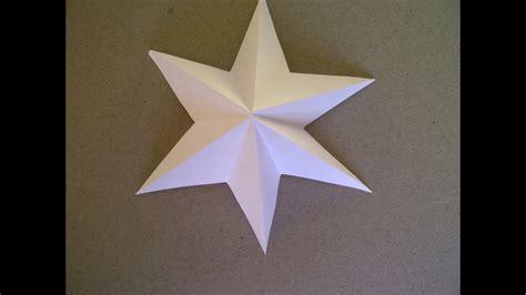 sterne basteln  zackiger stern aus papier falten sehr