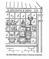 Coloring Early Society 55kb 820px Printables Drawings Usa sketch template