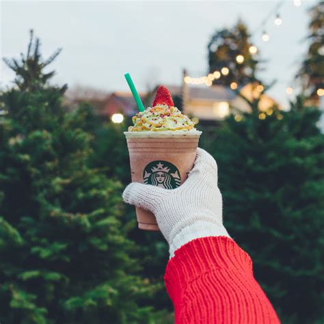 starbucks christmas tree frappuccino popsugar food